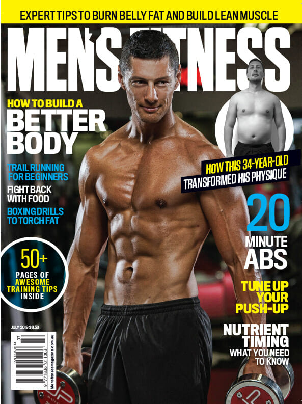 Mens Fitness Cover July 2019