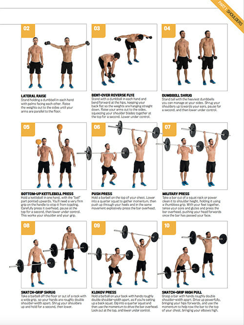 FREE downloadable Workout Poster  The 30 Top Upper Body